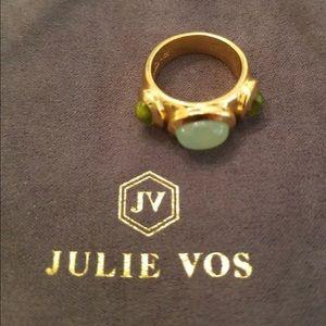 Julie Vos Roman w Semi Precious Stones Gold Ring